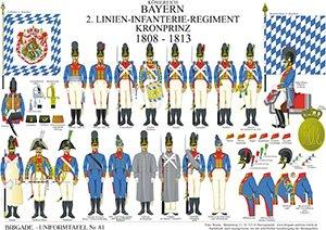 Tafel 81: Königreich Bayern: 2. Linien-Infanterie-Regiment Kronprinz 1808-1813