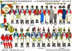 Tafel 312: Kaiserreich Frankreich: 4. Schweizer-Regiment 1813-1815