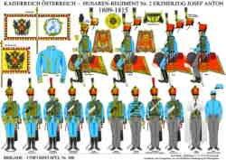 Tafel 366: Kaiserreich Österreich: Husaren-Regiment Nr.2 Erzherzog Josef Anton 1809-1815