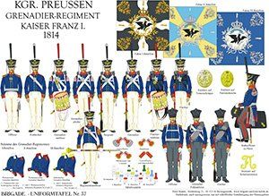 Tafel 37: Königreich Preußen: Grenadier-Regiment Kaiser Franz 1814
