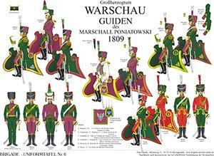 Tafel 6: Herzogtum Warschau: Guiden 1809
