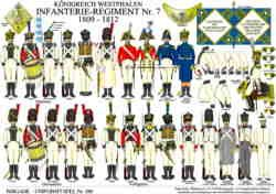 Tafel 380: Königreich Westphalen: Infanterie-Regiment Nr.7 1809-1812