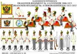 Tafel 355: Kaiserreich Österreich: Dragoner-Regiment Nr.4 Levenehr/Erbgrossherzog 1809-1815