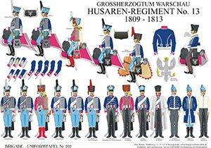 Tafel 202: Herzogtum Warschau: Husaren-Regiment No.13 1809-1813