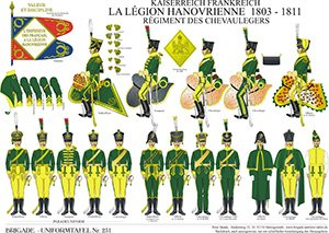 Tafel 251: Kaiserreich Frankreich: La Légion Hanovrienne-Régiment des Chevaulegers 1803-1811