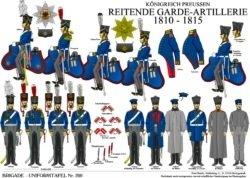 Tafel 200: Königreich Preussen: Reitende Garde-Artillerie 1810-15