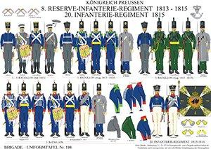 Tafel 198: Königreich Preußen: 8. Reserve-Infanterie-Regiment 1813-1815