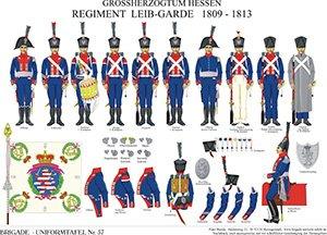 Tafel 57: Großherzogtum Hessen-Darmstadt: Regiment Leib-Garde 1809-1813