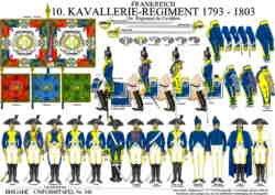 Tafel 349: Frankreich: 10. Kavallerie-Regiment 1793-1803