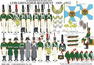Tafel 178: Kaiserreich Russland: Leib-Grenadier-Regiment 1809-1812