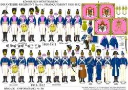 Tafel 301: Königreich Württemberg: 4. Linien-Infanterie-Regiment von Franquemont 1808–1812