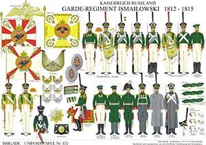 Tafel 172: Kaiserreich Russland: Garde-Infanterie-Regiment Ismailowski 1812-1815