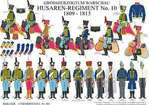 Tafel 201: Herzogtum Warschau: Husaren-Regiment No.10 1809-1813