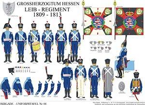 Tafel 66: Großherzogtum Hessen-Darmstadt: Leib-Regiment 1809-1813
