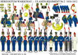 Tafel 360: Herzogtum Warschau: Ulanen-Regiment Nr.2 1810-1812