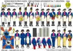Tafel 361: Königreich Preussen: Infanterie-Regiment Nr.7 Owstien 1806