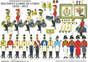 Tafel 141: Königreich Sachsen: Garde du Corps 1810-1813