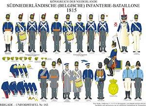 Tafel 183: Königreich der Niederlande: Belgische Infanterie-Bataillone 1815