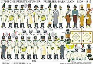 Tafel 186: Lippische Fürstentümer: Füsilier-Bataillon 1809-1813