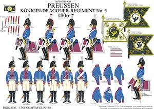 Tafel 69: Königreich Preußen: Dragoner-Regiment Nr.5 Königin 1806