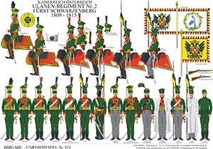 Tafel 275: Kaiserreich Österreich: Ulanen-Regiment Nr.2 Fürst Schwarzenberg 1809-1815