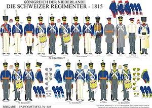 Tafel 228: Königreich der Niederlande: Die Schweizer Regimenter 1815