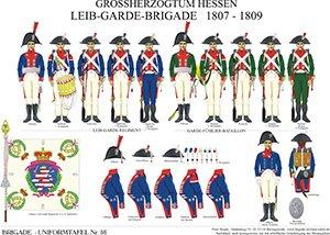 Tafel 56: Großherzogtum Hessen-Darmstadt: Leib-Garde-Brigade 1807-1809