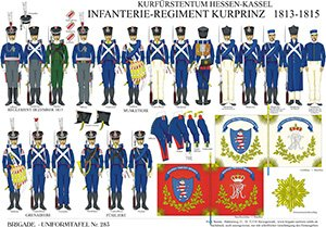 Tafel 283: Kurfürstentum Hessen-Kassel: Infanterie-Regiment Kurprinz 1814-1815