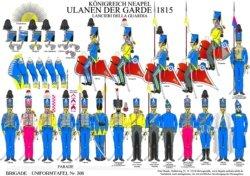 Tafel 306: Königreich Neapel: Ulanen der königlichen Garde 1815