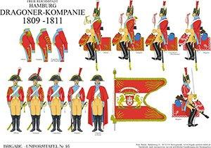 Tafel 93: Freie Reichsstadt Hamburg: Dragoner-Kompanie 1809-1813