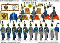 Tafel 374: Kaiserreich Österreich: Husaren-Regiment Nr.11 Székler Grenz-Husaren 1809-1815