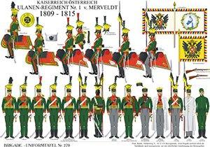 Tafel 270: Kaiserreich Österreich: Ulanen-Regiment Nr.1 Graf Merveldt 1809-1815