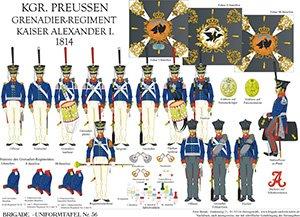 Tafel 36: Königreich Preußen: Grenadier-Regiment Kaiser Alexander 1814
