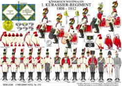 Tafel 375: Königreich Westphalen: 1. Kürassier-Regiment 1808-1812