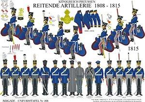 Tafel 268: Königreich Preußen: Reitende Artillerie 1808-1815