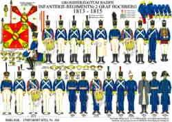 Tafel 345: Grossherzogtum Baden: Infanterie-Regiment Graf Hochberg Nr.2 1813-1815
