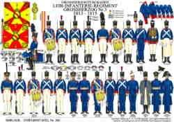 Tafel 365: Grossherzogtum Baden: Infanterie-Regiment Grossherzog Nr.3 1813-1815