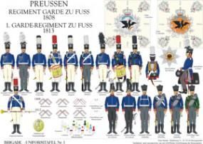 Tafel 1: Königreich Preußen: 1. Garde-Regiment zu Fuß 1808-1813