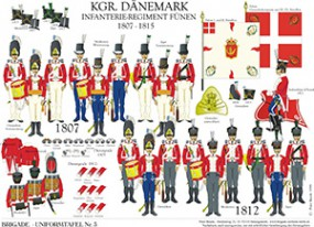 Tafel 3: Königreich Dänemark: Infanterie-Regiment Fünen 1807-1815