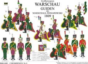 Tafel 6: Großherzogtum Warschau: Guiden 1809