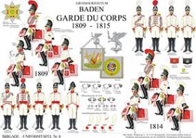 Tafel 8: Großherzogtum Baden: Garde du Corps 1809-1813