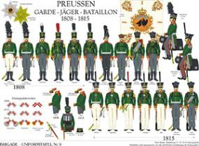 Tafel 9: Königreich Preußen: Garde-Jäger-Bataillon 1809-1815