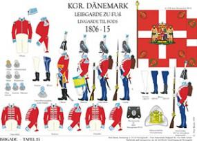Tafel 23: Königreich Dänemark: Leibgarde zu Fuß 1806-1815