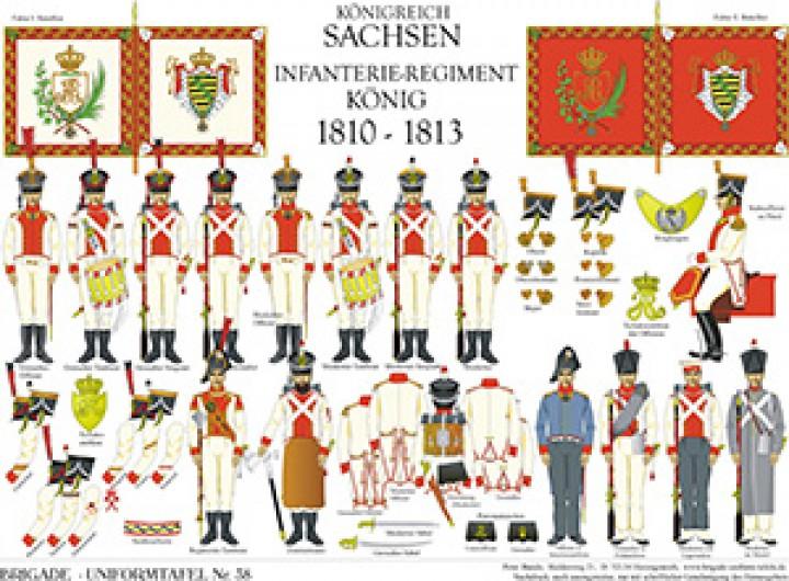 Tafel 38: Königreich Sachsen: Infanterie-Regiment König 1810-13