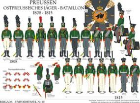 Tafel 40: Königreich Preußen: Ostpreußisches Jäger-Bataillon 1808-1815