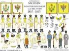 Tafel 42: Königreich Sachsen: Infanterie-Regiment v. Rechten 1810-1813