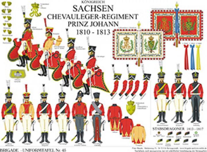 Tafel 45: Königreich Sachsen: Chevauleger-Regiment Prinz Johann 1810-1813