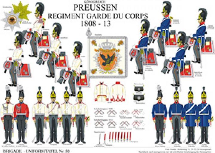 Tafel 50: Königreich Preußen: Regiment Garde du Corps 1808-1813