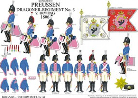 Tafel 54: Königreich Preußen: Dragoner-Regiment No.3 v. Irwing 1806