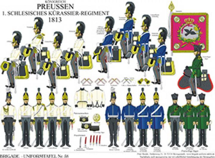 Tafel 58: Königreich Preußen: Schlesisches Kürassier-Regiment Nr.1 1813
